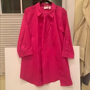 Chico's no-iron Pink button down